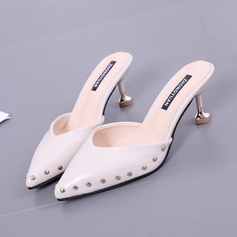Stud Trim Statement Kitten Heels