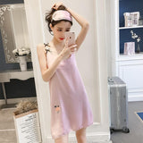 Berry Applique Sleep Dress with Mask - Theone Apparel