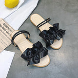 Faux Leather Ruffle Strap Sliders