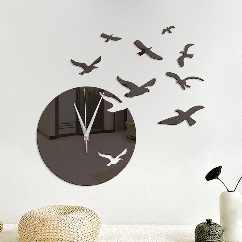 Acrylic Clock and Seagulls Wall Stickers - Theone Apparel