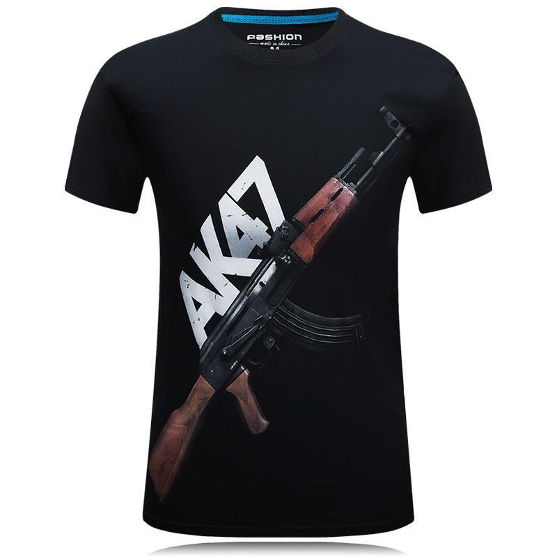 Automatic Rifle Design Gun Shirt - Theone Apparel