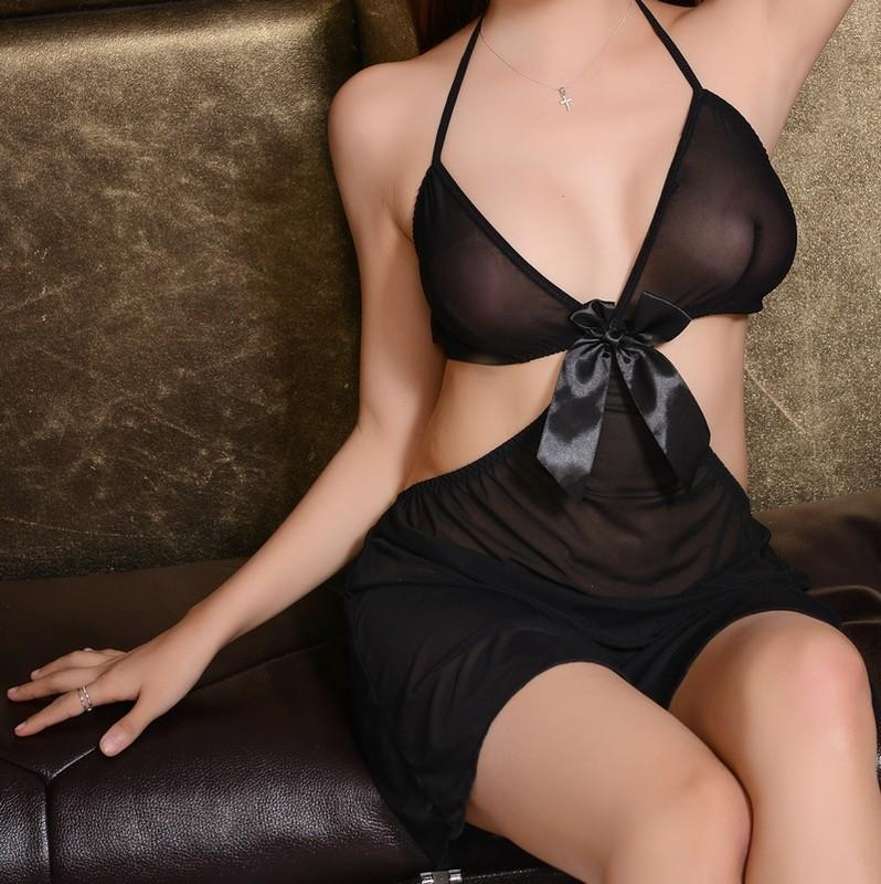 Bound by a Bow Sheer Cutout Babydoll - Theone Apparel