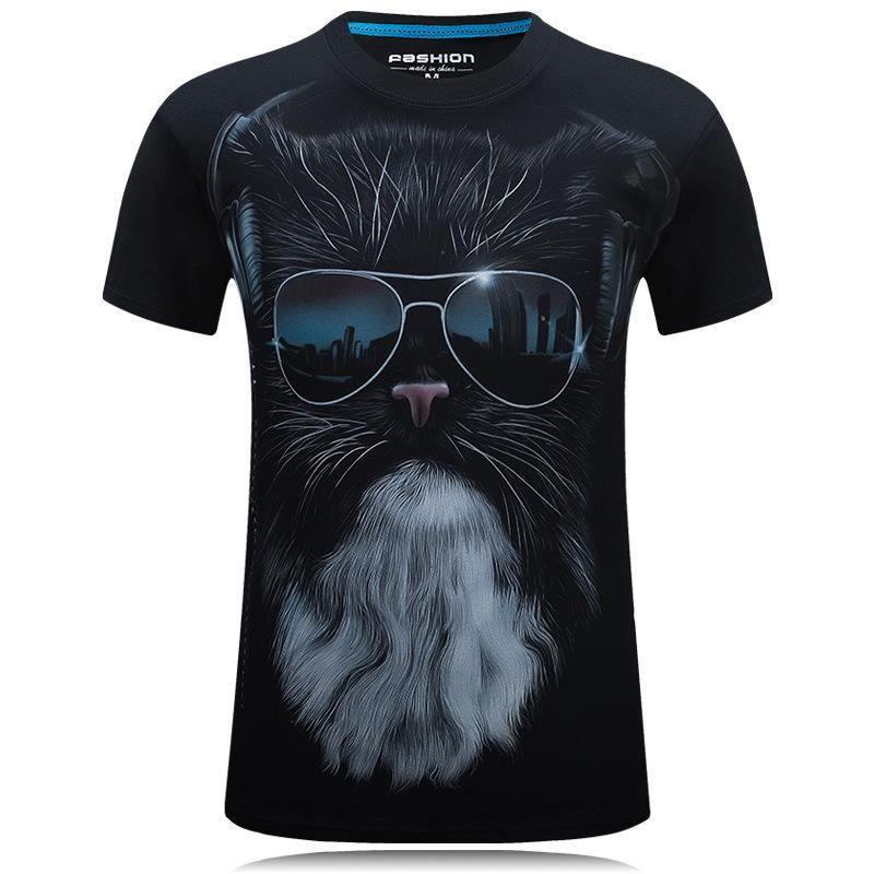 Cool Dude Bearded Cat Shirt - Theone Apparel