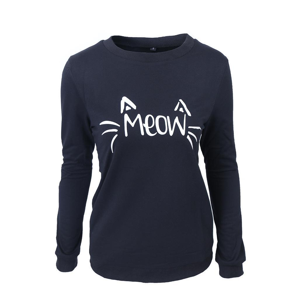 Cute Meow Kitty Cat Sweater - Theone Apparel