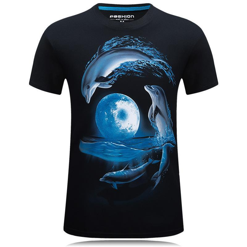 Dolphins Under Moonlight Shirt - Theone Apparel