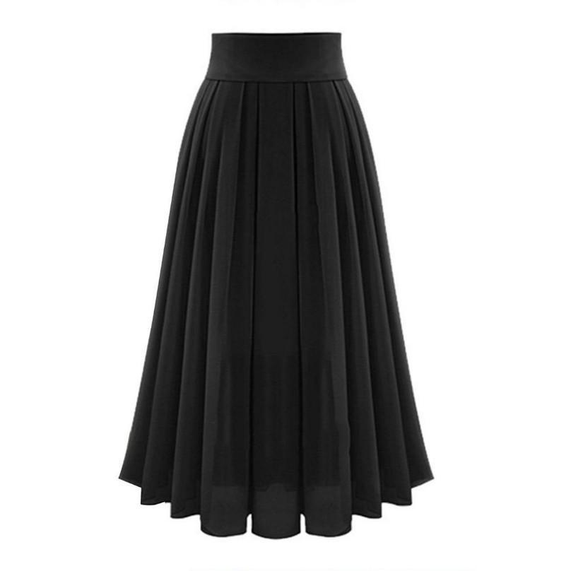 Full Length Pleated Layers Skirt