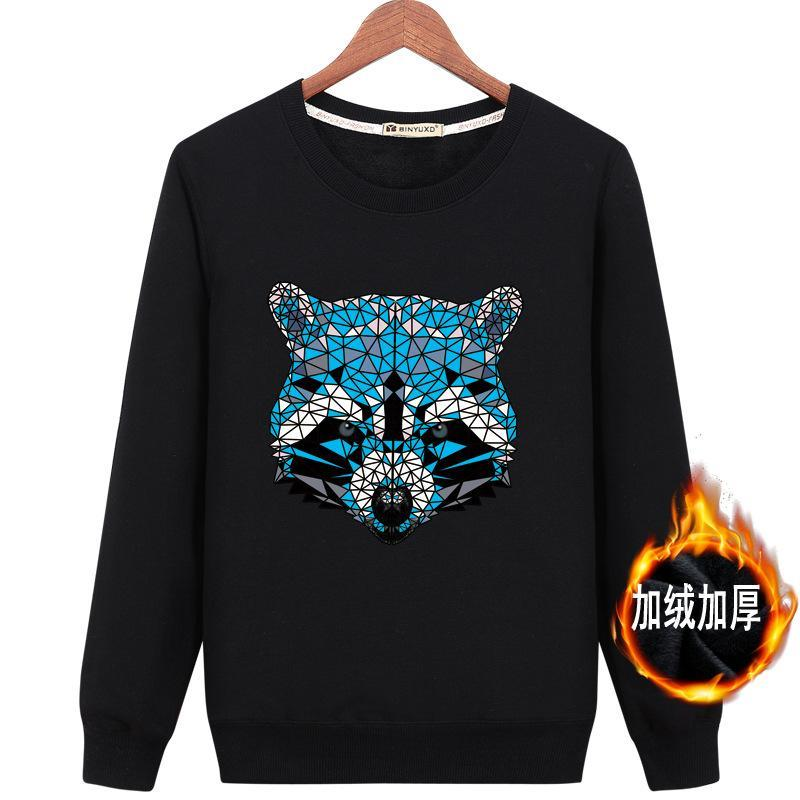 Geometric Tile Raccoon Graphic Sweater