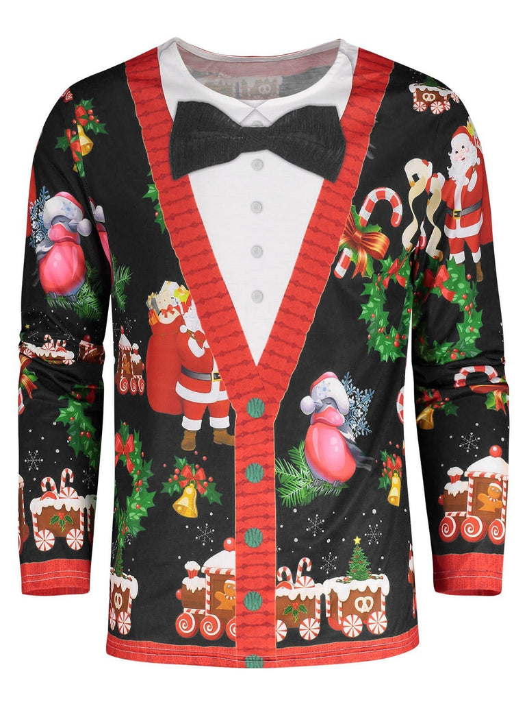 Green Bow Tie Christmas Shirt