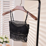Half Shirt Black Lace Bralette