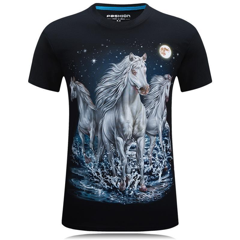 Moonlight Magic White Horse Shirt