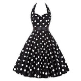 Polka Dot Retro Pleat Dress