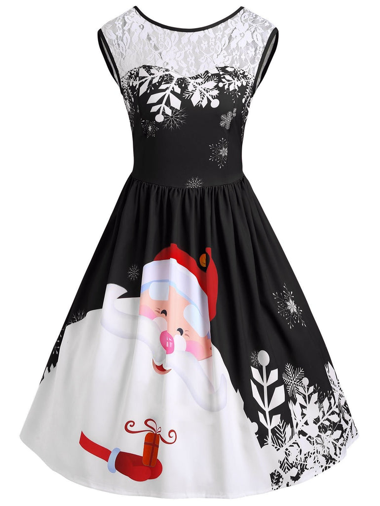 Red Santa Christmas Party Dress