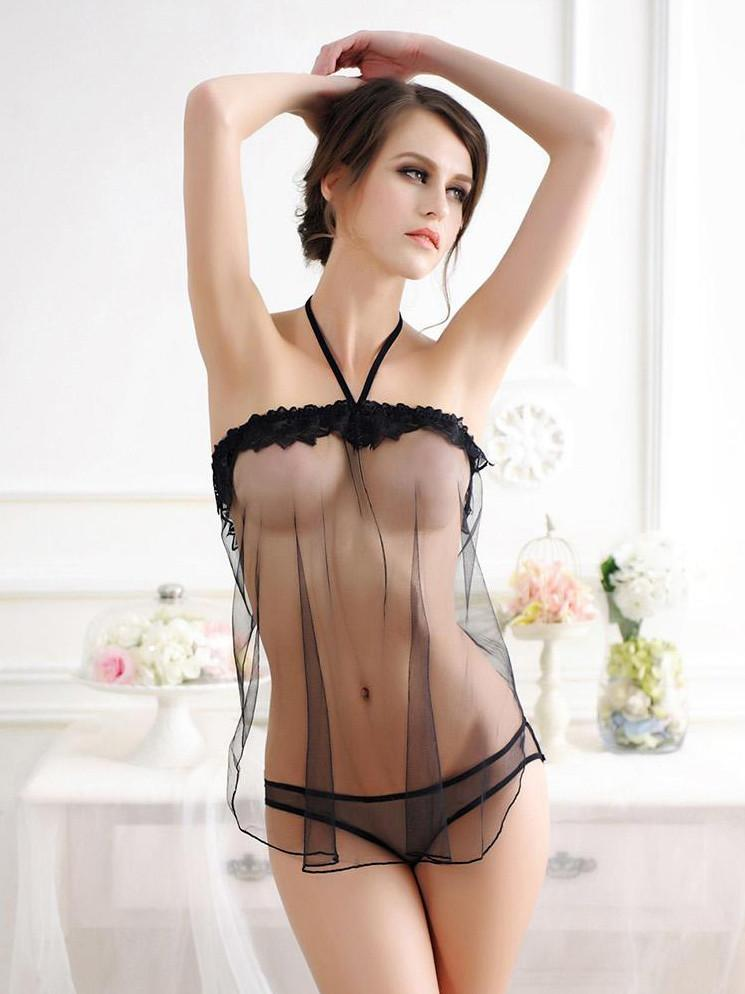 See Through Me Triangle Top Babydoll