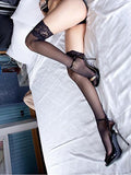 Sheer Lace Thigh High Stocking