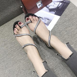 Sparkle Strap Wraparound Sandals