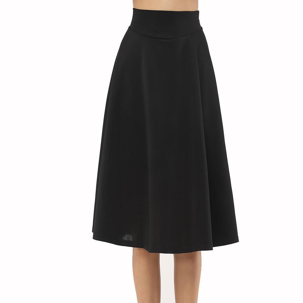 Wide Band Tea Length Skirt
