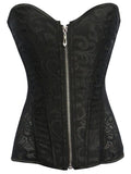 Zippered Lacy Lingerie Corset