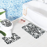 Black and White Print Bath Mat Sets - Theone Apparel