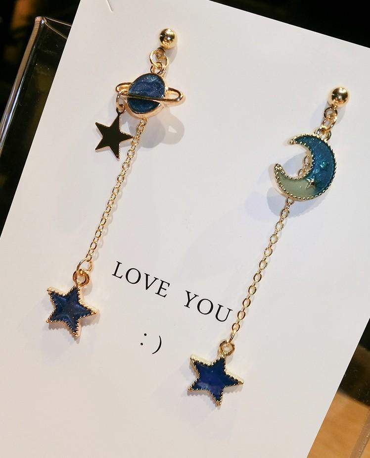 Make a Wish Starry Night Drop Earrings
