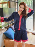 Silky Shorts Pajamas Set