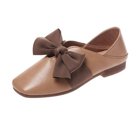 Bow Flop Round Toe Ballet Flats - Theone Apparel