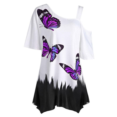 Butterfly Madness High-Low Shirt - Theone Apparel