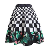 Checkered Craze Cactus Blossom Skirt - Theone Apparel