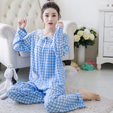 Chic Gingham Print Nightwear Set - Theone Apparel