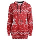 Christmas Reindeer And Snowflakes Hoodie - Theone Apparel