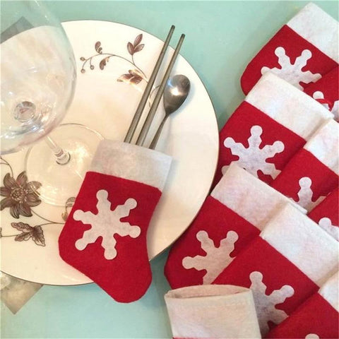 Christmas Stockings Dinnerware Party Decorations - Theone Apparel