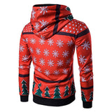 Christmas Tree and Snowflake Holiday Hoodie - Theone Apparel