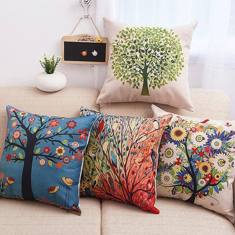 Colorful Tree of Life Pillow Covers - Theone Apparel