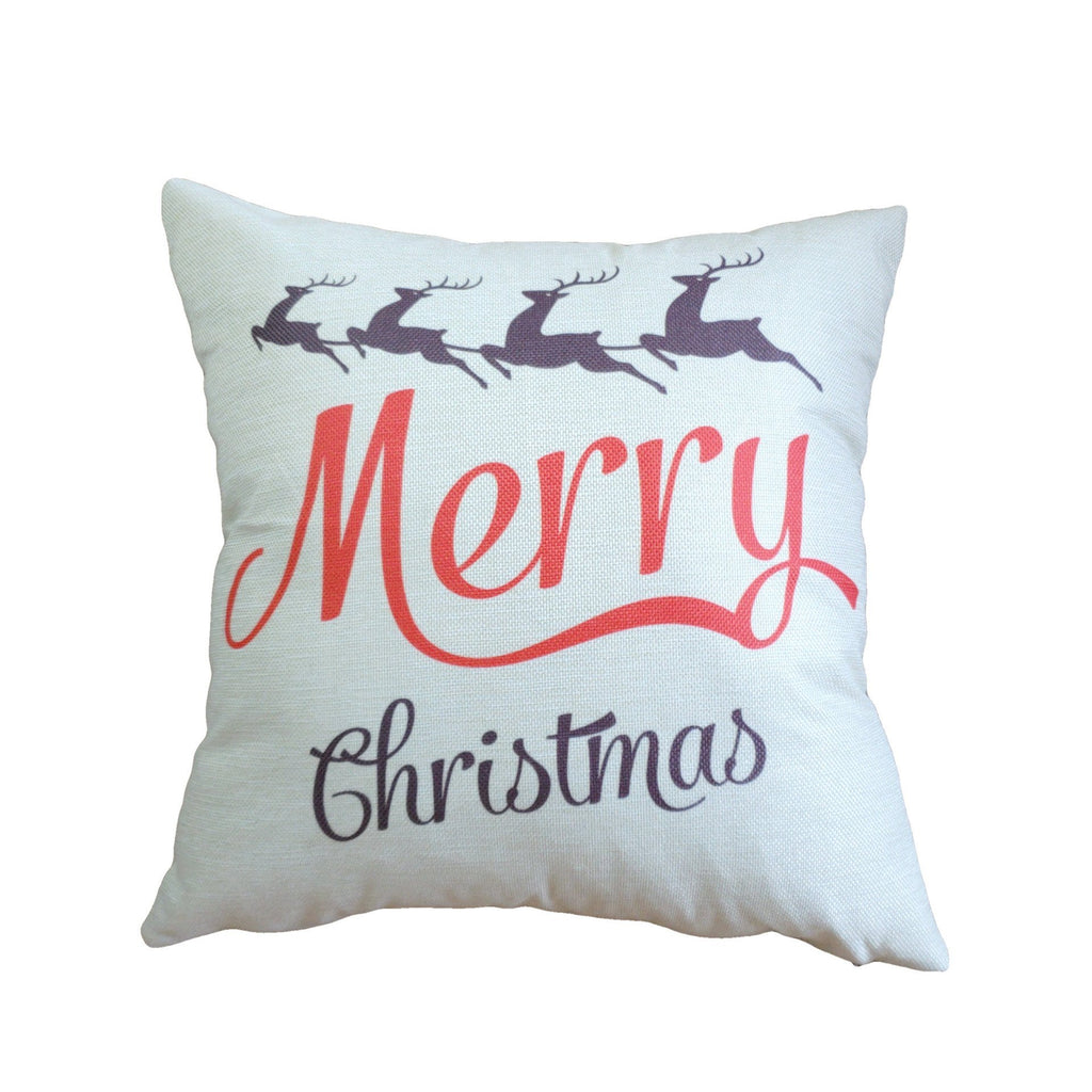 Country Christmas Square Pillow Covers - Theone Apparel