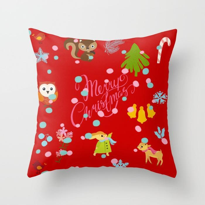 Cozy Up Christmas Print Pillow Covers - Theone Apparel