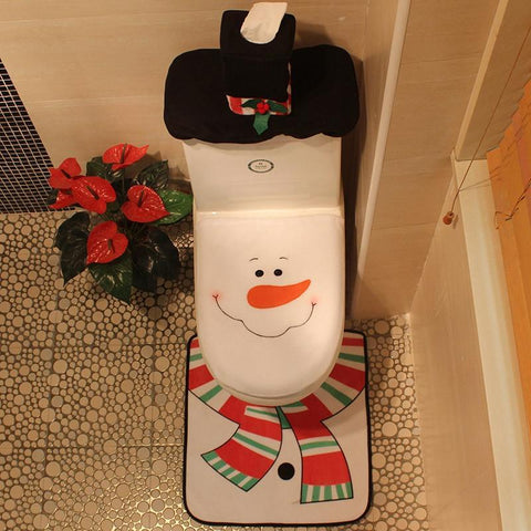 Creative Snowman Christmas Bathroom Set - Theone Apparel