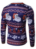 Crew Neck Christmas Print Mens Shirt - Theone Apparel