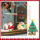 Cristmas Tree and Santa Wall Stickers - Theone Apparel