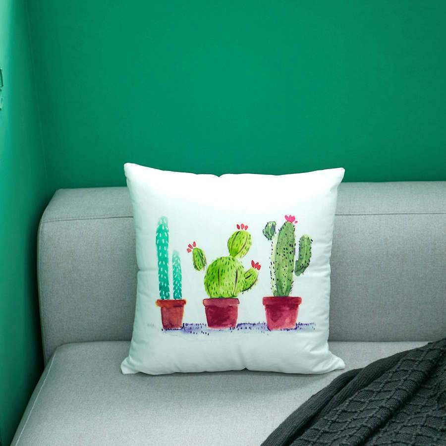 Cute Cactus Print Pillow Covers - Theone Apparel