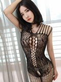 Cutout Lace Crotchless Body Stocking - Theone Apparel