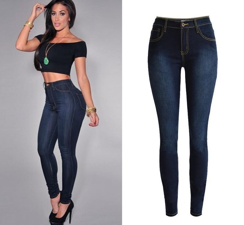 Dark Denim Stretch Skinny Jeans - Theone Apparel
