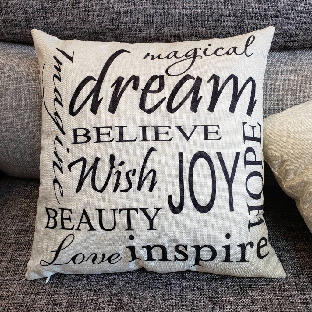 Dream On Inspirational Pillow Cover - Theone Apparel