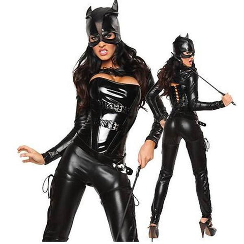 Erotic Bat Women Latex Halloween Costume - Theone Apparel