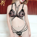 Exotic Strappy Lace Lingerie Set