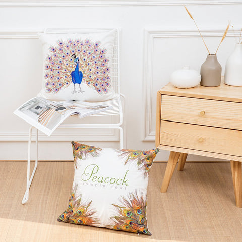 Feather Fascination Printed Pillow Covers - Theone Apparel