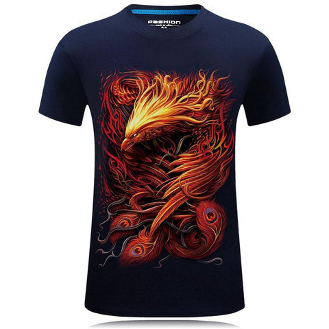 Fiery Phoenix Transformation Graphic Tee - Theone Apparel