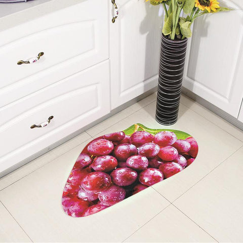 Flavors of Fruit Cutout Kitchen Mat - Theone Apparel