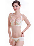 Floral Embroidery Comfort Fit Bra - Theone Apparel