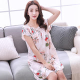 Floral Frenzy Bowtie Nightie Dress