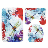 Flowers and The Sea Bath Mat Sets
