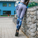 For the Ladies Printed Gym Leggings - Theone Apparel